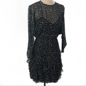 Gorgeous vintage 80's polka dot sprinkle dress